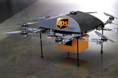 Con un dron, empresa de mensajería entrega paquetes en EE. UU.
