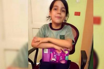 Esta niña santandereana le pidió ayuda a Presidente Santos para hacer una tarea