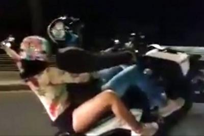 Vándalos en moto ahora transmiten en directo maniobras peligrosas en Bucaramanga
