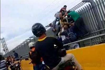 Video registró cómo frustraron intento de suicidio en Bucaramanga