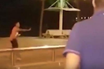 Video registró el momento en el que es abatido uno de los terroristas en España