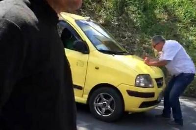 Nuevo caso de intolerancia: Taxista arrolló a un hombre en Floridablanca