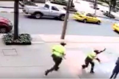 Tiroteo entre policías y presuntos ladrones generó pánico en Bogotá