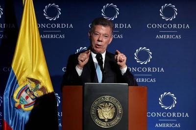 """Santos destaca """"ánimo conciliador"""" del presidente electo Iván Duque"""