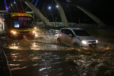 Fuerte aguacero de la noche no generó mayores emergencias en  Bucaramanga