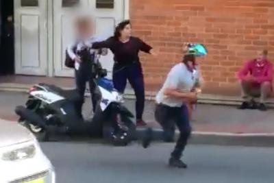 Video registró el momento en el que un hombre extorsionaba a una mujer en Bucaramanga