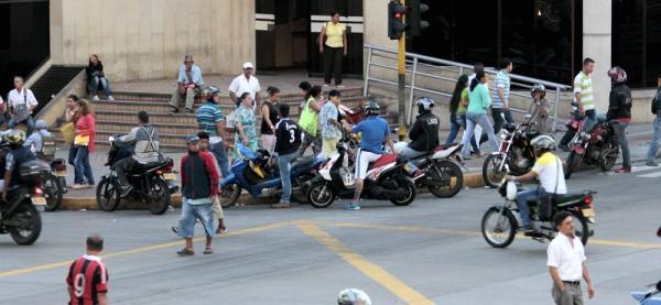 En el centro del 'mototaxismo' de Bucaramanga