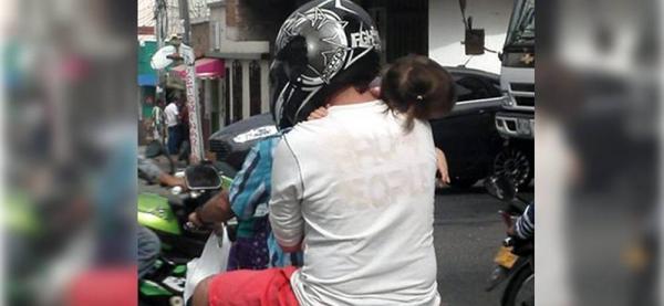 Hombre protagoniza imprudencia vial con menor de edad en Bucaramanga