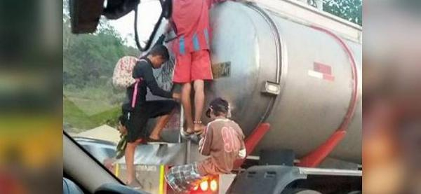 Irresponsable acción de cuatro jóvenes en Bucaramanga