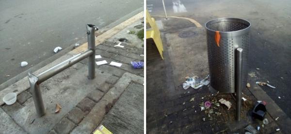 La falta de cultura ciudadana y el vandalismo llena de basura la Avenida.