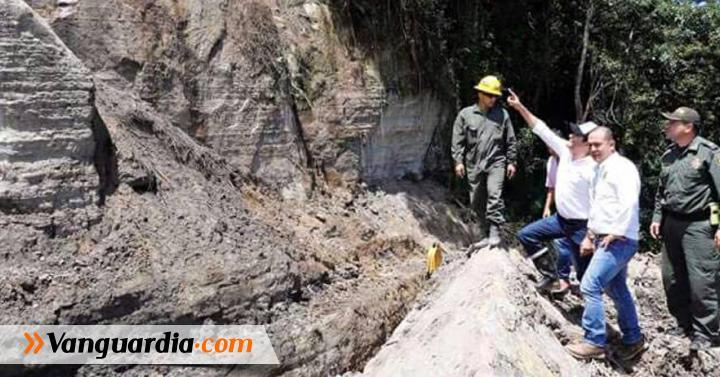 Gobernador inspeccionó obras en la vía San José de Suaita a ... - Vanguardia Liberal
