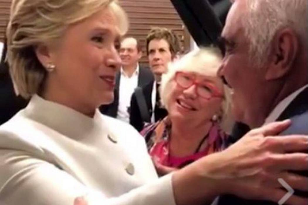 Así fue el encuentro entre Vicente Fernández y Hillary Clinton