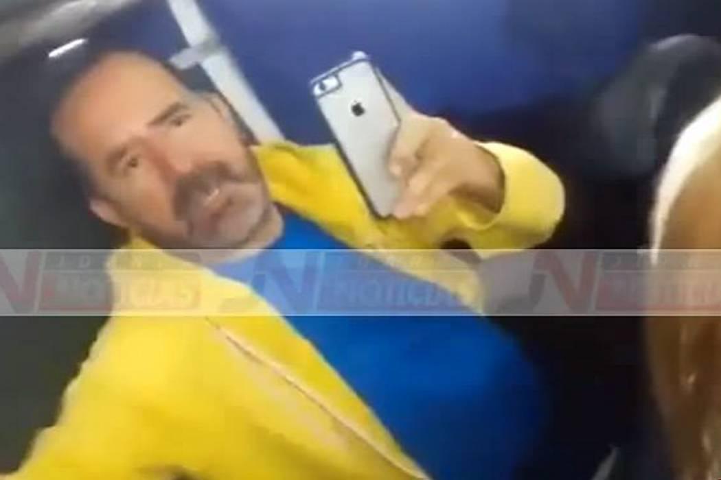 Este es el video del escándalo del concejal de Bucaramanga Uriel Ortiz en un autobús