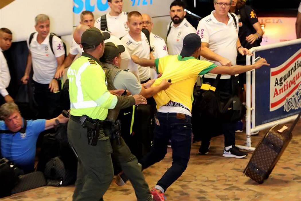 Video registró la locura que se vivió en Barranquilla por la llegada de Brasil