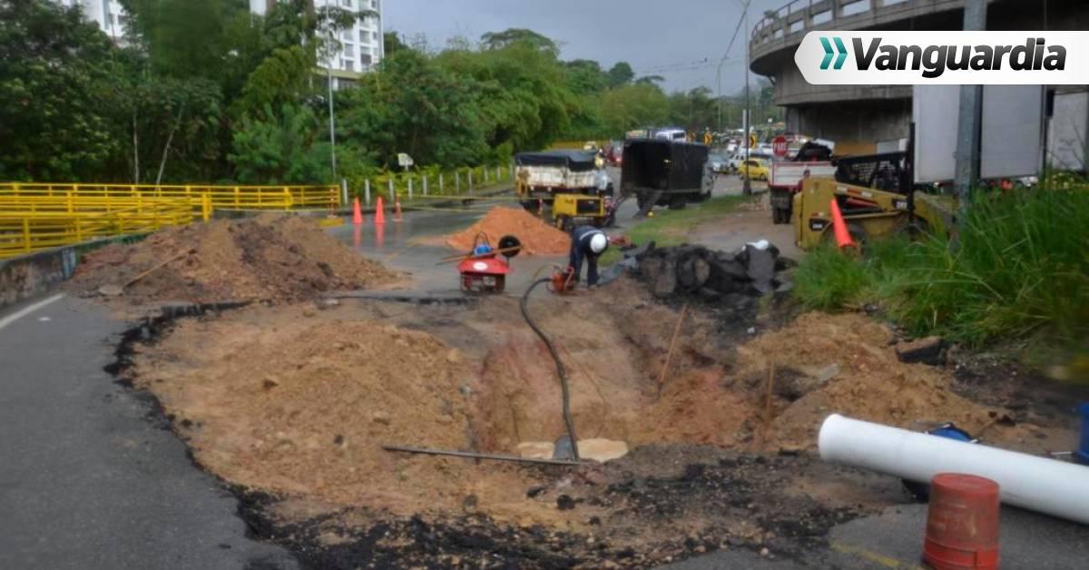 'Cráter' en vía de Floridablanca requiere una semana de arreglo - Vanguardia