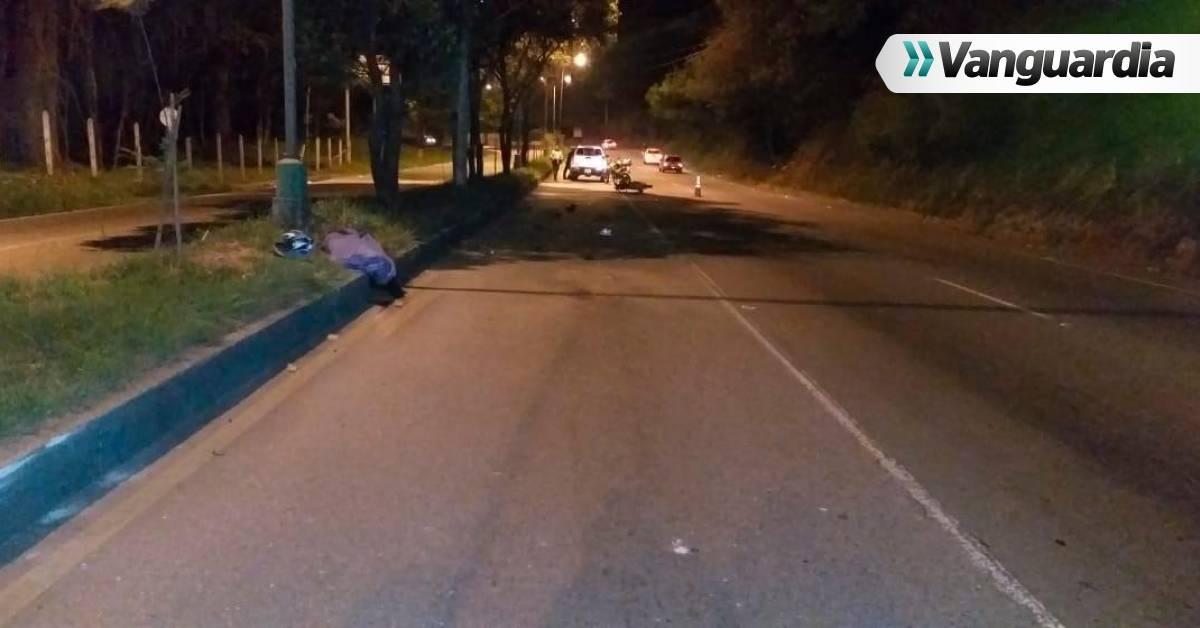 Motociclista murió tras accidente en Piedecuesta - Vanguardia