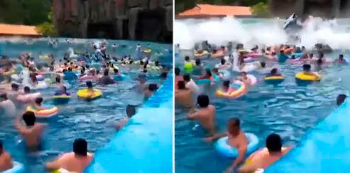 Video: piscina de olas fuera de control dejó 44 personas heridas (Foto: Captura de video)