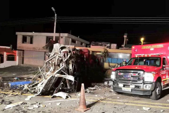 Se han identificado 15 colombianos del accidente de tránsito