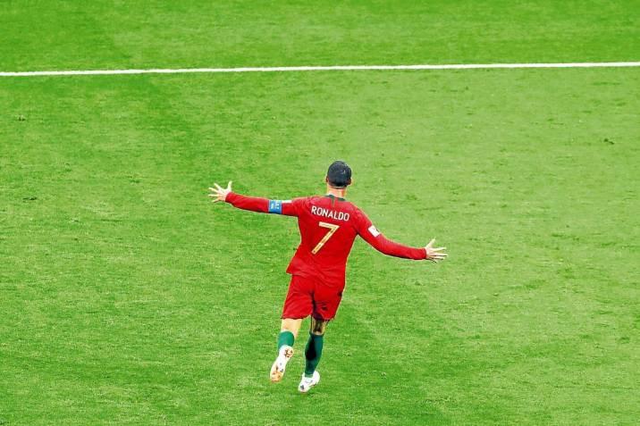 cfda52b5a4 Cristiano Ronaldo marcó un golazo de tiro libre