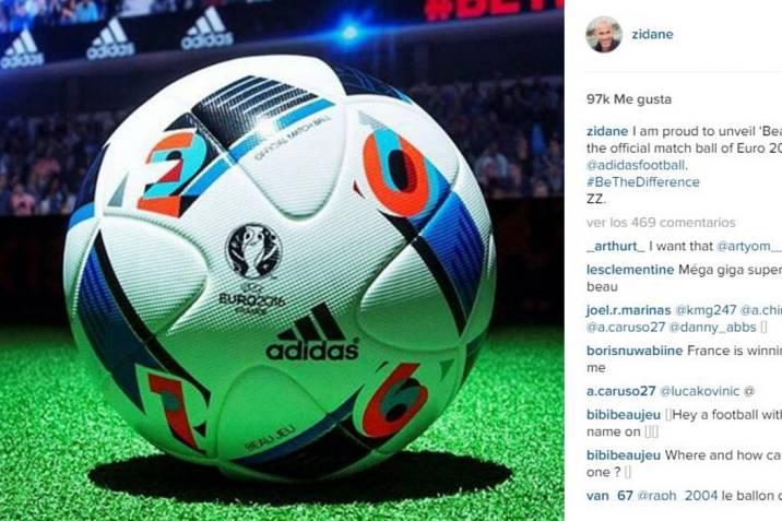 Zidane revela cómo será el balón de la Eurocopa 2016 (Foto  Instagram    VANGUARDIA 6eb717b5294d1
