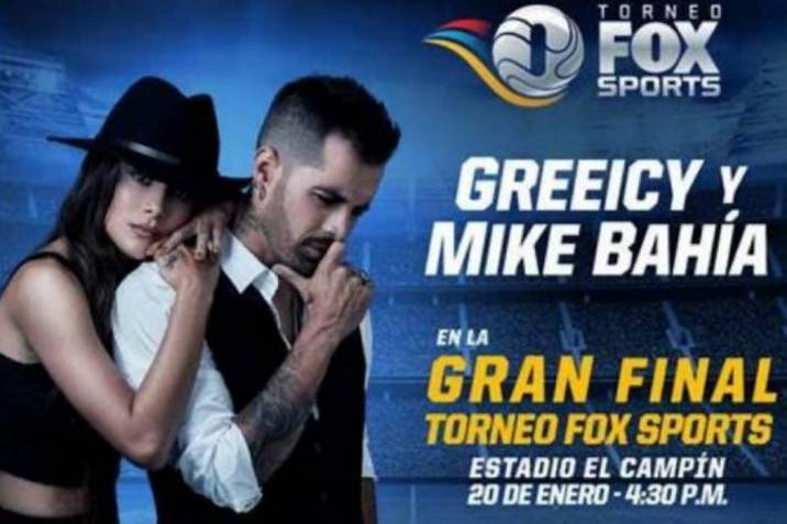 Greeicy Rendón y Mike Bahía, confirmados para la final del Torneo Fox Sports 2019 (Foto: Suministrada / VANGUARDIA LIBERAL)