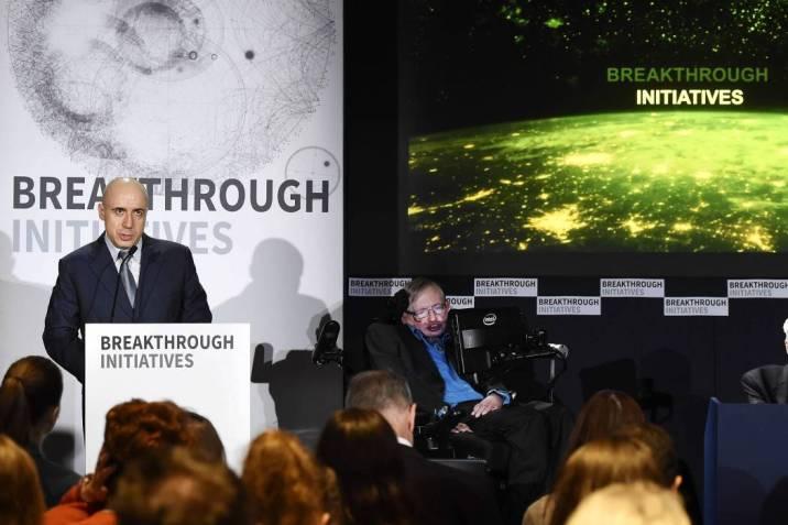 Resultado de imagen de Stephen Hawking lanza el mayor proyecto de búsqueda de vida extraterrestre
