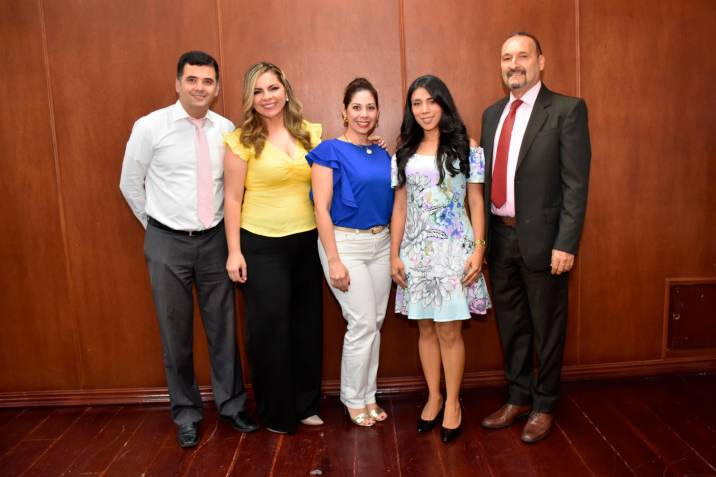 Suministrada / VANGUARDIA <br />Luis Carlos Acevedo Alonso, Maira Alejandra Jaimes Carrillo, Martha Carolina del Río, Lida Arias y William Zamudio.