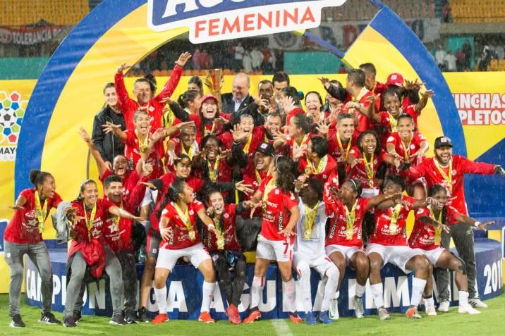 Resultado de imagen para campeonas liga femenina colombiana