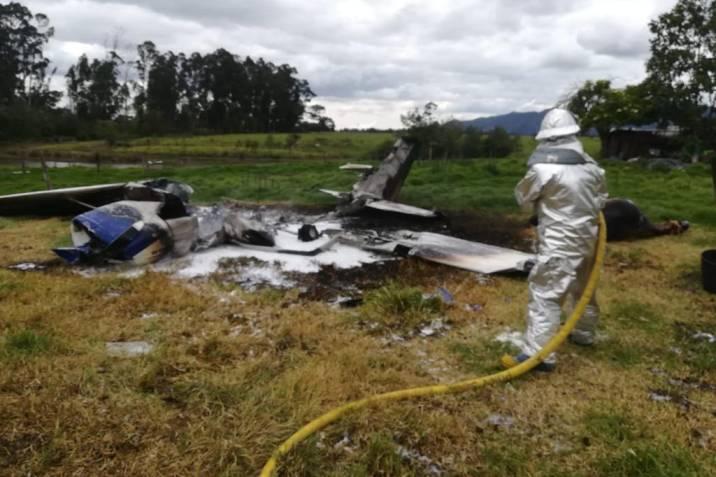 En fotos: Nuevo accidente aéreo en Bogotá | Vanguardia.com
