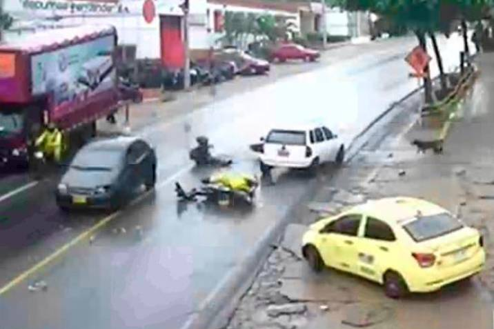 Video: Imprudencias ocasionaron accidente en el norte de Bucaramanga