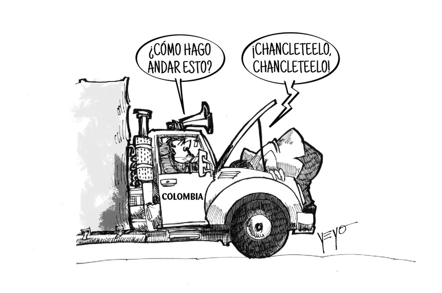 El Presidente varado con los camioneros