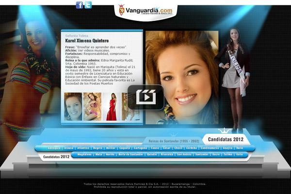 Candidatas al concurso nacional de belleza 2012