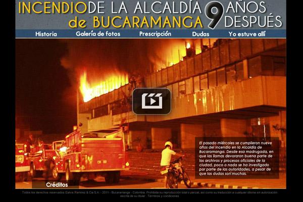Incendio en la Alcaldía de Bucaramanga: 9 años después