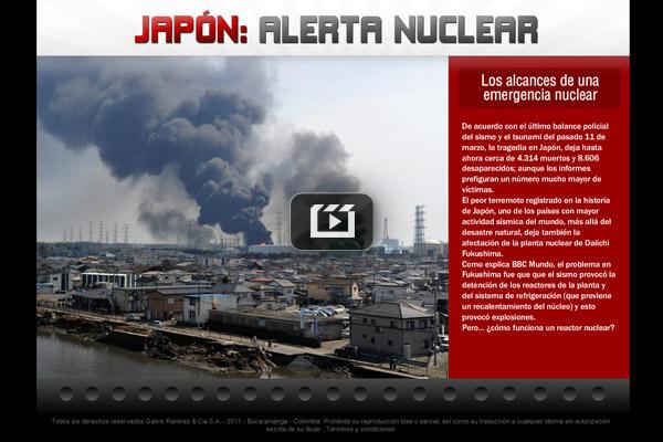 Alarma nuclear en Japón
