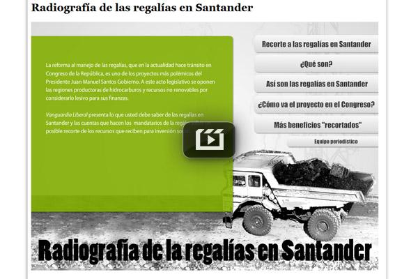 Radiografía de las regalías en Santander