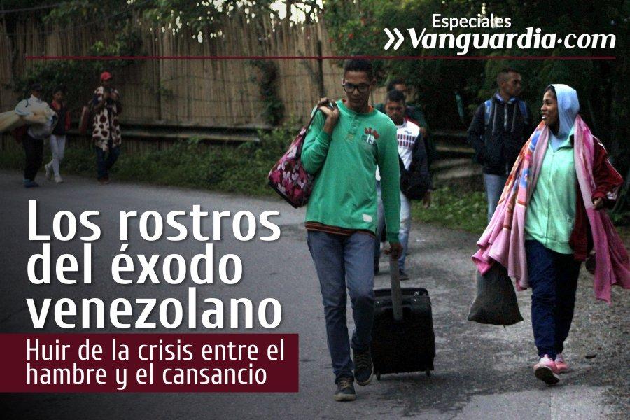 Los rostros del éxodo venezolano