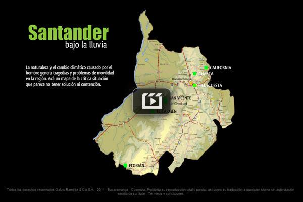 Santander bajo la lluvia