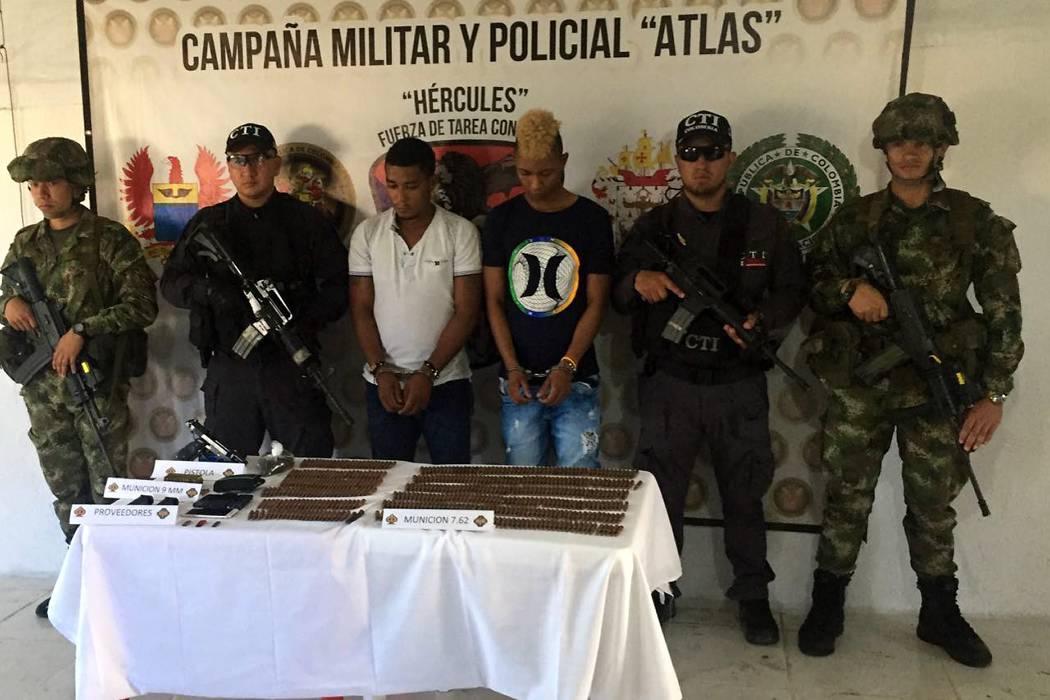 """Capturados alias """"Roberto"""" y alias """"Niño Richi"""" del frente 'Oliver Sinisterra'"""