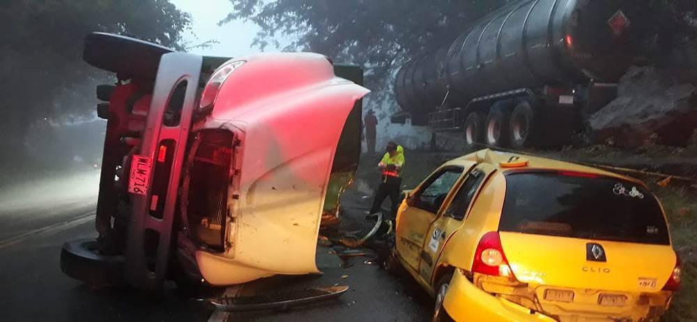 Un muerto y un herido tras accidente  en la vía San Gil- Socorro