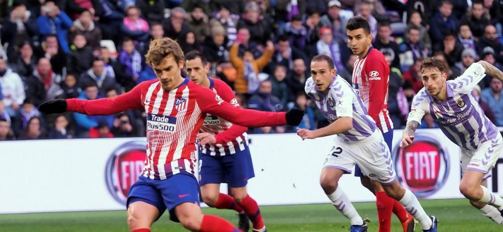 Griezmann rescata al Atlético en Valladolid