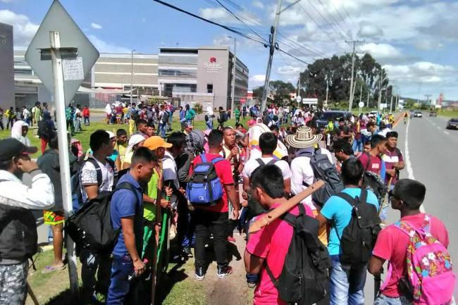 Alcaldía de Bogotá acompaña movilización de comunidades indígenas