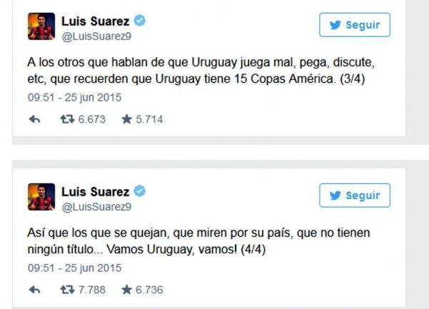 1442bc182be16 Los mensajes de Suárez se desataron luego de que la Conmebol confirmara que  abrirá un expediente disciplinario contra Gonzalo Jara