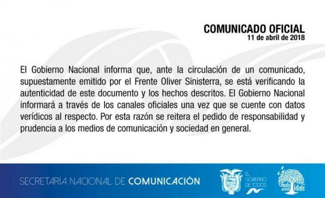 Políticos lamentaron muerte de periodistas ecuatorianos