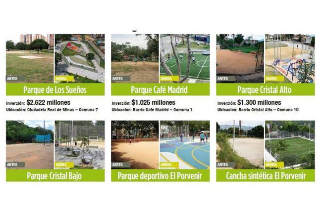 Parques y espacios públicos que transforman los barrios de Bucaramanga