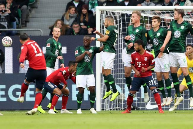 Así fue el gol de James Rodríguez en el triunfo del Bayern ante Wolfsburgo