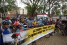 Así transcurrió la marcha de ciclistas ante 'racha de robos' en Bucaramanga