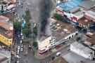 Voraz incendio consumió taller de  pintura de bicicletas en Bucaramanga