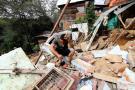 Cuatro familias damnificadas en el Divino Niño, tras fuertes lluvias
