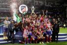 El Atlético de Madrid amplió ayer su palmarés europeo hasta los siete títulos, con tres Ligas Europa (2010, 2012 y 2018); una Recopa (1962) y tres Supercopas (2010, 2012 y 2018), más de la mitad, cuatro, conseguidos con el argentino Diego Simeone como entrenador.