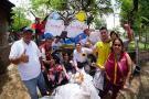 Líderes sociales hicieron una jornada de limpieza